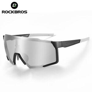 ROCKBROS Cycling Polarized Sunglasses for Men Women Sports Bike Black Glasses