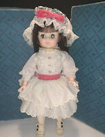 Vintage Madame Alexander Doll, Degas Girl 1575 White Eyelet Dress with Pink Bow