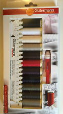 Gutermann SEW ALL THREAD 100M x 11 Sewing Kit BOX SET Basic Colours + Seam Fix