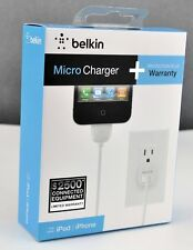 Brand New White 1.1A Belkin Micro Charger 30-Pin USB Warranty 4 Ft 1,2m USA Ship