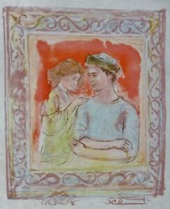 EDNA HIBEL (1917-2014) romancehand Signed Limited Edition Lithograph US Artist