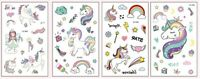 Set of 2 Love Unicorn Kids Temporary Tattoo Sticker Party Lolly Loot Bag Filler