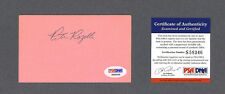 Pete Rozelle signed football index card Psa authenticated