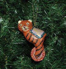 Wooden Tiger On A Wheel, Circus Christmas Ornament