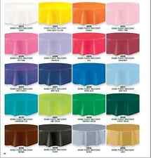 "Plastic Table Cover Cloth Round 213cm/84"" 20 Colours Birthday Wedding Decoration"