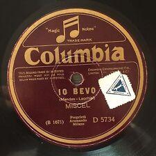"""RARE 78RPM 10"""" COLUMBIA MISCEL IO BEVO / IL TUO NOME E' DONNA"""