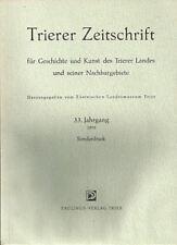 Trierer Zeitschrift Sonderdruck 1970 Buchbesprechungen Heimatliteratur Trier Mos