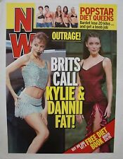 "Kylie Minogue Australian Nw Poster From 2000: ""Brits Call Kylie & Danni Fat!"""