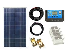 100w Solar Panel Kit K4 12V/24V PWM controller battery charging cables brackets