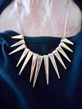 Authentic Vintage Rose Gold Tone Spike Design w/Snake Chain Necklace