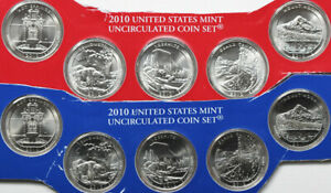 2010 P and D America the Beautiful Quarters 10 BU Coins US Mint ATB PARKS 25c