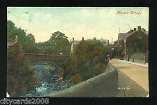 MARPLE  Cheshire     Bridge and Village  Coloured   ( Marple Bridge thimble P/M