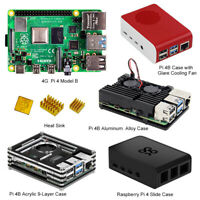 Raspberry Pi 4 Model B QuadCore 64bit (4 GB ARM) with case and heat sink