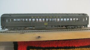 CB&Q  Coach 6157 and Baggage 1558  both built from a brass side NKP Car Kit