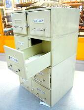 Cassettiera anni '60 archivio modulare in metallo