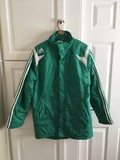 Adidas Para Hombre Abrigo/Chaqueta Impermeable Verde (tamaño 34/36)