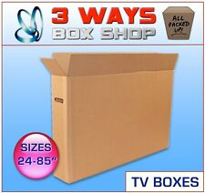 More details for tv removal cardboard moving box - ideal for screens, artwork, mirrors & pictures