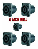 4 Pole Female Cable connector SpeakON Chassis Mount X-1098 ( 5 Pack ) Deal