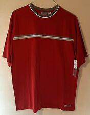 NWT Quicksilver Red W/ Gray Single Bar Heavy Tee T-Shirt Size: M Medium