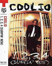 COOLIO 1 2 3 4 SUMPIN NEW CASSETTE SINGLE HIP HOP GANGSTA Tommy Boy Music