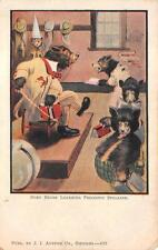 BUSY BEARS LEARNING PHONETIC SPELLING COMIC DRESSED ANIMALS POSTCARD (c. 1905)