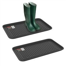 2 Pack Utility Boot Catch All Tray Dirt Muddy Shoes Plastic Drip Mats