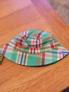 John Lewis Patchwork Check Baby Green Hat 0 -3, 12 -24 Months Brand New RRP £7