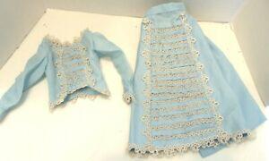 "Antique Fashion  Doll Outfit.  2 pcs. 10"" total."