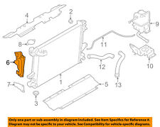 NISSAN OEM 16-18 Titan XD 5.0L-V8 Radiator-Air Duct Right 21468EZ40A
