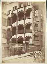 France, Lyon. Montée Saint Barthélémy. Hôtel Henri IV   Vintage albumen print.