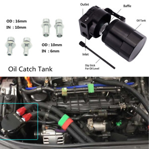 Black CNC Aluminum Engine Crankcase For Oil Separator Catch Can Reservoir Tank