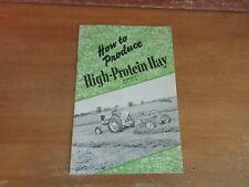 Old CASE FARM MACHINERY TRACTOR ADVERTISING 1955 HOW TO PRODUCE HIGH-PROTEIN HAY