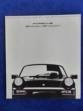 Porsche 911 964 - Daten & Ausstattungen MJ 1990 - Prospekt Brochure 08.1989