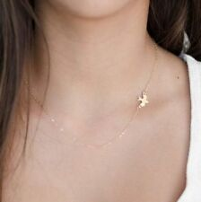 Fashion women Gold/Silver Simple short peace pigeon birds clavicle necklace hot