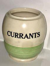 Kleen Kitchen Ware Green Art Deco Thin Stripes Sadler Currants England Pottery