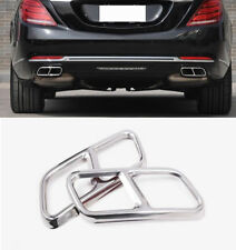 Rear Dual Exhaust Pipe Stick Cover For Benz S Class W221 facelift W222 C217 A217