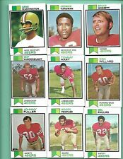 1973 TOPPS -  18 SAN FRANCISCO 49ERs & 17 LOS ANGELES RAMS   ( HIGH VALUE )
