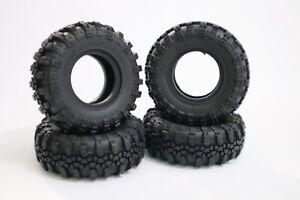 4x Micro Crawler 1/24 RGT Swamper Tires 1.0 SCX24 Mini Z Carisma