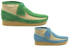 NEW BRITISH WALKERS ORIGINAL NEW CASTLE GREEN OR BLUE LEATHER SUEDE WALLABEES