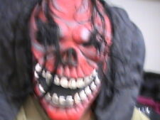 Rare Halloween Prop Costume Accessory Red Ghoul Scary Monster Mask Easter