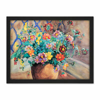 Syberg Blooming Apple Tree Branch Painting Large Framed Art Print