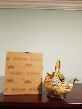 "Jim Shore Heartwood Creek 2007 ""Basket Of Plenty"" #4009015 Handpainted 6 Pc Set"