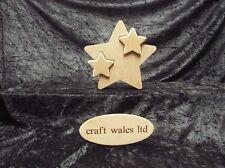 Star in Star  MDF 18mm Twin Star Freestanding Wooden stars 180mm high