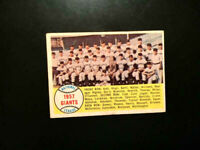 1957 Topps New York Giants Team #19 Unmarked VG/EX Willie Mays💥