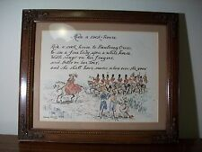 Ride a cock horse to Banberry Cross Original sketch framed art 1984 Nancy White