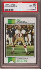 1973 TOPPS # 20 JIM JOHNSON ☆HALL OF FAME☆ SAN FRANCISCO S.F. 49ERS PSA 8 NM-MT