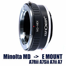 K&F Premium Minolta MD Adapter for Sony E Mount A7Sii A7Rii A7ii A7 NEX-3 5 6 7
