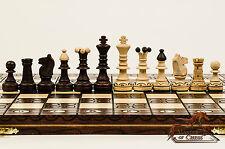 """Superbe """"sénateur deluxe"""" Qualité Premium Jeu d'échecs en bois 41cmx41cm-bargain!!!"""