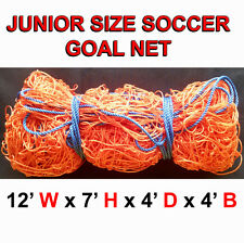 1 NEW JUNIOR SIZE 12' x 7' x 4' x 4' SOCCER GOAL NET NETTING ORONO CAMP NET