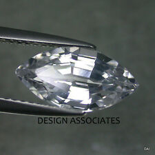 NATURAL WHITE SAPPHIRE 8X4 MM MARQUISE CUT DIAMOND COLOR
